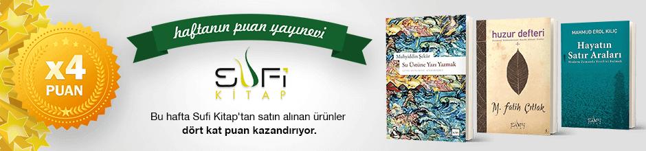 Sufi Kitap Yayınları'ndan 4 kat Ekstra Puan Kampanyası