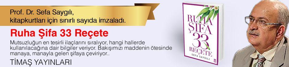 Ruha Şifa 33 Reçete. Prof. Dr. Sefa Saygılı, Kitapkurtları için Sınırlı Sayıda İmzaladı.