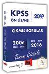 2018 KPSS Ön Lisans Tamamı Çözümlü 2006-2016 Çıkmış Sorular