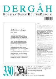 Dergah Edebiyat Sanat Kültür Dergisi Sayı 330 Ağustos 2017