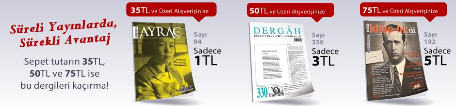 """35TL ve Üzeri Alışverişinize """" Ayraç Dergisi Sayı:94 Ağustos 2017 """" Sadece 1 TL"""