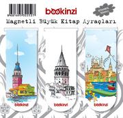 Magnetli Büyük Kitap Ayraçları / İstanbul Temalı