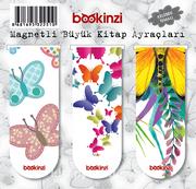 Magnetli Büyük Kitap Ayraçları / Kelebek Temalı