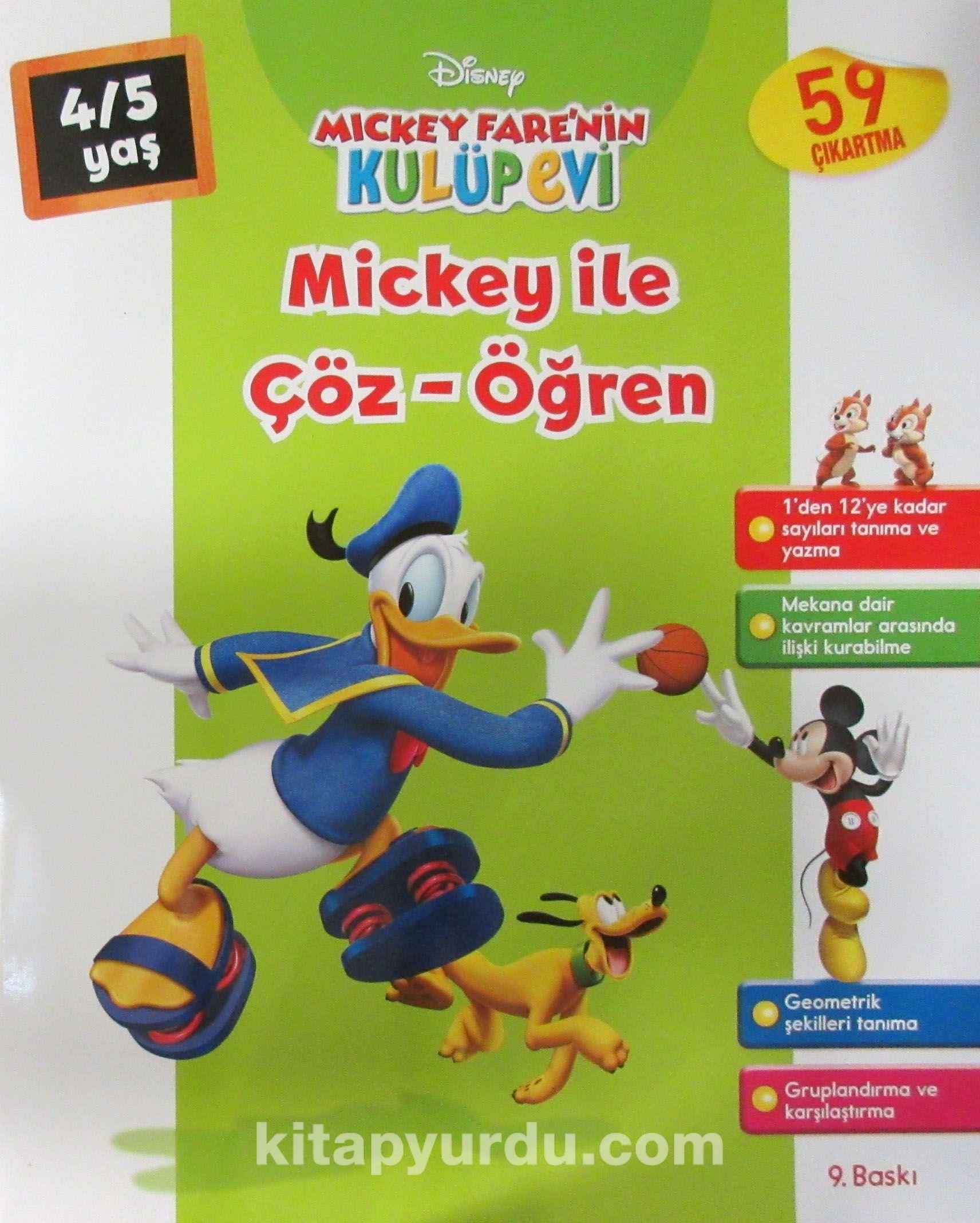 Mickey ile Çöz Öğren (4-5 Yaş)