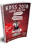 2018 KPSS Lise-Önlisans Genel Kültür Çek Kopar Yaprak Test