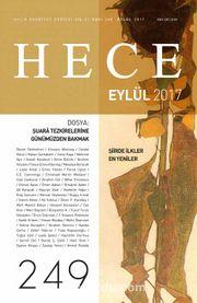 Sayı:249 Eylül 2017 Hece Aylık Edebiyat Dergisi