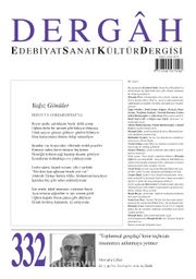 Dergah Edebiyat Sanat Kültür Dergisi Sayı 332 Ekim 2017