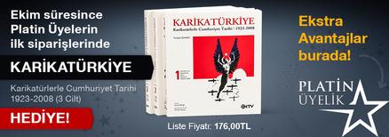 Ekim Ayında Platin Üyelere Karikatürkiye & Karikatürlerle Cumhuriyet Tarihi 1923-2008 (3 Cilt)  Hediye!