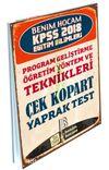 2018 KPSS Eğitim Bilimleri Program Geliştirme-Öğretim Yöntem ve Teknikleri Çek Kopart Yaprak Test