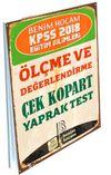 2018 KPSS Eğitim Bilimleri Ölçme ve Değerlendirme Çek Kopart Yaprak Test