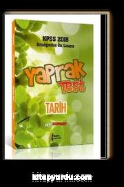 2018 KPSS Ortaöğretim Ön Lisans Tarih Çek Kopar Yaprak Test