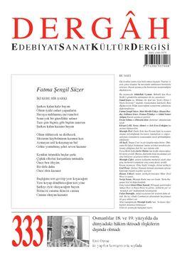 Dergah Edebiyat Sanat Kültür Dergisi Sayı 333 Kasım 2017