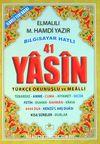 41 Yasin Bilgisayar Hatlı Türkçe Okunuşlu ve Mealli (Çanta Boy) (Yasin004)