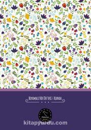Boyamalı Not Defteri - Ajanda (Çiçekli)