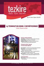 Tezkire Düşünce-Siyaset-Sosyal Bilim Dergisi Sayı:61 Temmuz-Ağustos-Eylül 2017