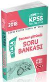 2018 KPSS Genel Kültür Genel Yetenek Tamamı Çözümlü Soru Bankası Özel Tek Kitap