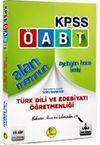 2018 KPSS ÖABT Alan Memnun Türk Dili ve Edebiyatı Öğretmenliği Bilgi Notları İle Destekli Soru Bankası