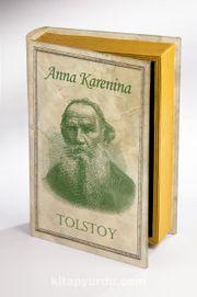 Kitap Şeklinde Ahşap Hediye Kutu Tarih ve Yazarlar - Anna Karenina - Tolstoy