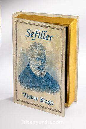 Kitap Şeklinde Ahşap Kutu - Tarih ve Yazarlar - Sefiller - Victor Hugo