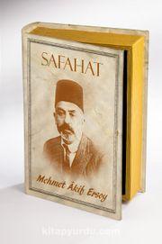 Kitap Şeklinde Ahşap Kutu - Tarih ve Yazarlar - Safahat - Mehmet Akif Ersoy