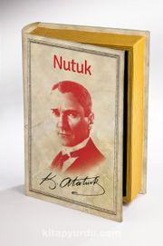 Kitap Şeklinde Ahşap Kutu - Tarih ve Yazarlar - Nutuk - K. Atatürk
