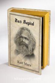 Kitap Şeklinde Ahşap Kutu - Tarih ve Yazarlar - Das Kapital - Karl Marx