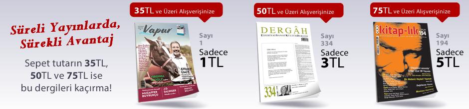 """35TL ve Üzeri Alışverişinize """"Vapur Edebiyat Dergisi Sayı:1 Aralık 2017"""" Sadece 1 TL"""