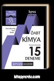 2018 KPSS ÖABT Kimya Tamamı Çözümlü 15 Deneme