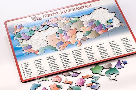 Türkiye İller Haritası (Puzzle)