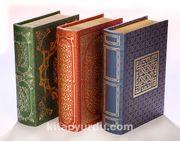 Kitap Şeklinde Yaldızlı Ahşap Kutu (3 Kutu)