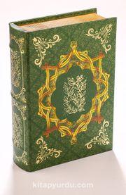 Kitap Şeklinde Yaldızlı Ahşap Kutu - Zeytin Dalı