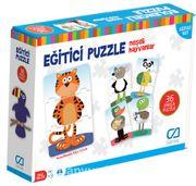 Eğitici Puzzle - Neşeli Hayvanlar (CA.5028)