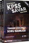 2018 KPSS Savar Genel Yetenek Genel Kültür Çözümlü Soru Bankası (2 Kitap)