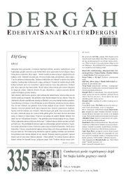 Dergah Edebiyat Sanat Kültür Dergisi Sayı 335 Ocak 2018