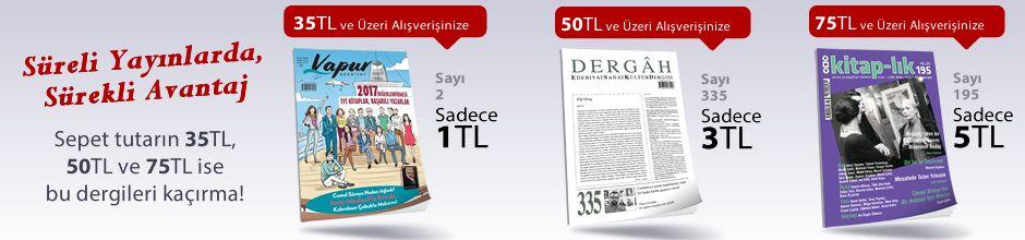 """50TL ve Üzeri Alışverişinize """" Dergah Edebiyat Sanat Kültür Dergisi Sayı 335 Ocak 2018 """" Sadece 3 TL"""
