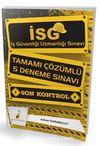 İSG İş Güvenliği Uzmanlığı Sınavı Son Kontrol Tamamı Çözümlü 5 Deneme Sınavı
