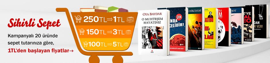 100TL ve Üzeri Alışverişinize Seçili Kitaplar' Sadece 5TL