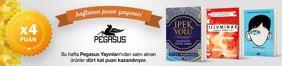 Pegasus Yayınları'ndan alınan ürünün puanının 4 katı ekstradan hesabınıza yüklenecektir.