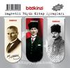 Magnetli Büyük Kitap Ayraçları / Atatürk Temalı