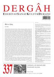 Dergah Edebiyat Sanat Kültür Dergisi Sayı 337 Mart 2018