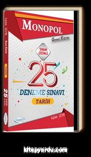 2018 KPSS Genel Kültür Tarih 25 Deneme Sınavı Tamamı Çözümlü