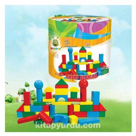 Woodoy Ahşap Blok Renkli 60 Parça (500159)