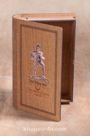 Kitap Şeklinde Mıknatıslı Ahşap Akordeon Kutu - Çanakkale Zaferi Seyit Onbaşı Anıtı