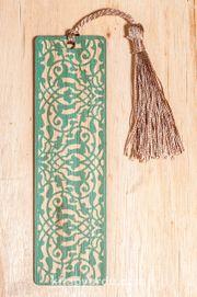 Bambu Ayraç Motifli Baskı - Turkuaz Lale