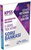 KPSS Genel Yetenek Genel Kültür Ortaöğretim - Önlisans 5 Ders Tek Kitap Soru Bankası (1556)