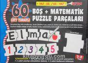 60 Çift Taraflı Boş+Matematik Puzzle Parçaları (Yaz-Sil / Sil-Yaz)