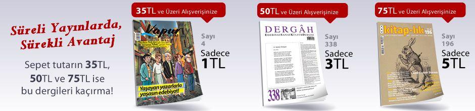 """50TL ve Üzeri Alışverişinize """" Dergah Edebiyat Sanat Kültür Dergisi Sayı 338 Nisan 2018 """" Sadece 3 TL"""