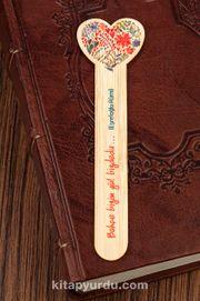 Bambu Çubuk Ayraç - Çiçekli Kalp