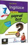 7. Sınıf İngilizce Çek Kopar Yaprak Test