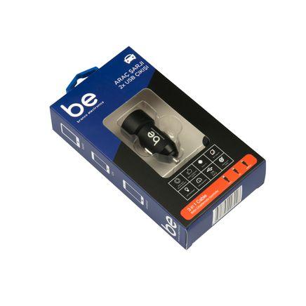 Branco SN-309 Araç Şarjı ve 3 in 1 Şarj Kablosu ( SİYAH) (Lightning, Micro USB, Type-C) (SN-319)